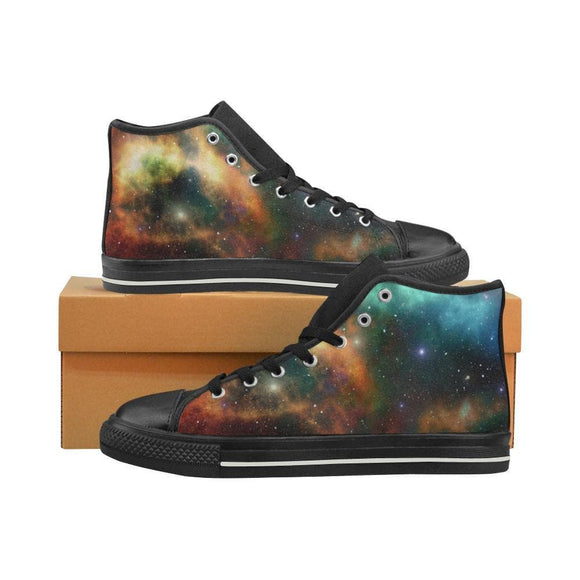 Galaxy Stars Universe Canvas High Top Shoes