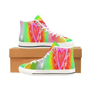 Tie Dye Heart Colorful Shoes High Tops