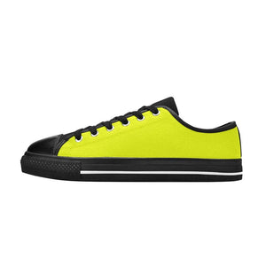 Neon Pink, Green, Orange , Yellow And Red Canvas Low Top Shoes
