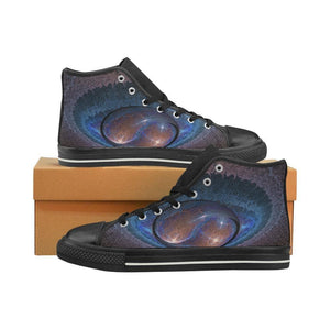 Purple Planet Emitting Multi Color Energy Canvas Shoes For Women