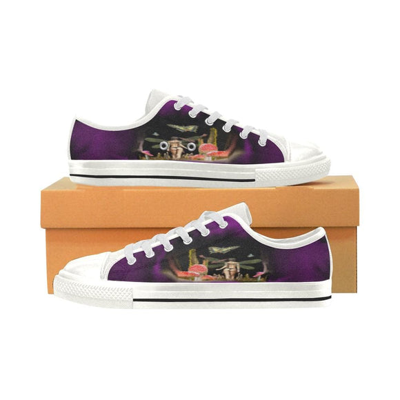 Purple Fairy Low Top Shoes Canvas Women's Shoes