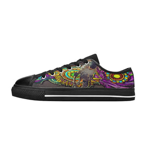 Graffiti Cartoon Skateboarder Shoes