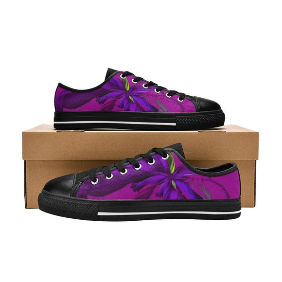 Abstract Purple Canvas Shoes For Women