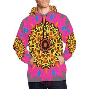 Celtic Flower Hoodie Mens Or Womens