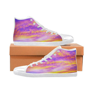 Sunset Of Glory Shoes  High Top Multicolor Graphic