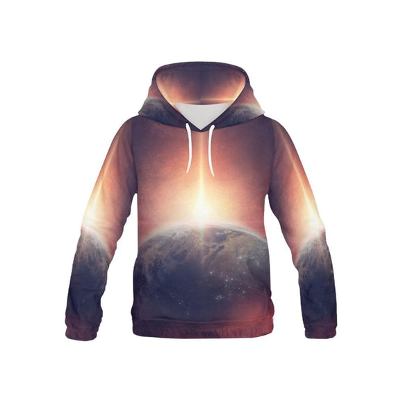 Planetary Space Galaxy Hoodies For Children