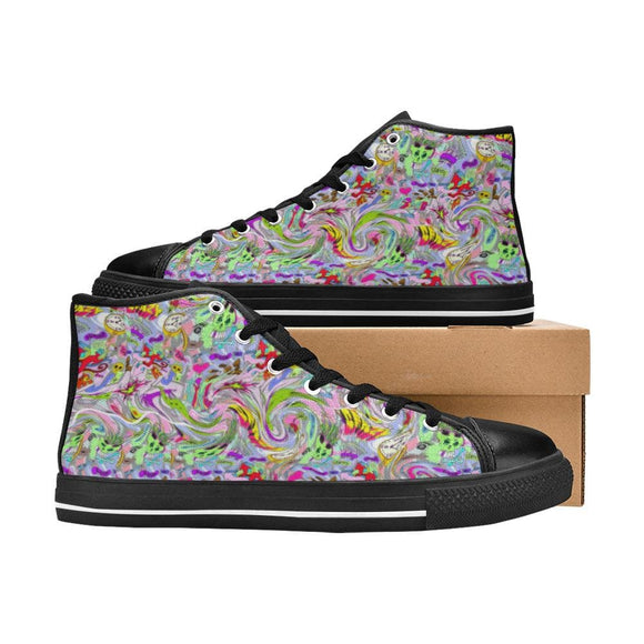 Womans Urban Art Canvas Shoes
