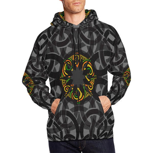 Black Celtic Designed Hoodie For Men Or Women