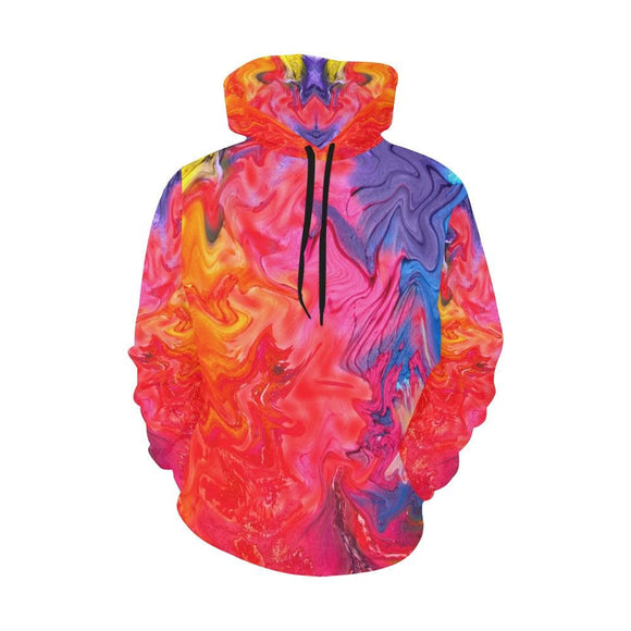 Paint Splatter Colorful Graphic Hoodie