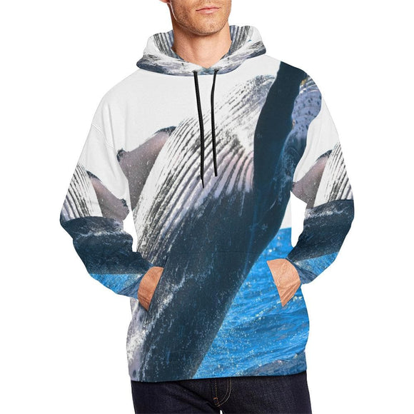 Big Whale Jumping at Sea Hoodie
