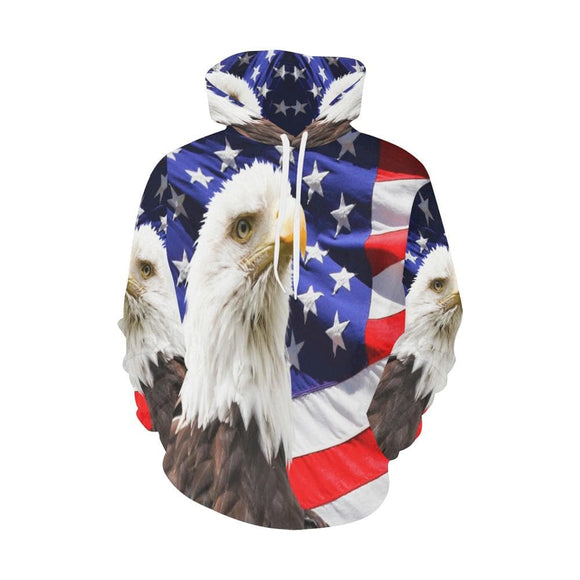 American Eagle Hoodie With  Flag