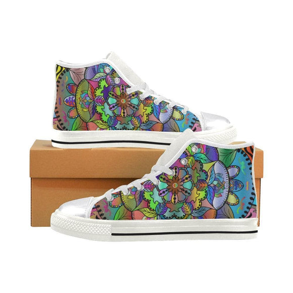 Women's Shoes With Mandala High Tops