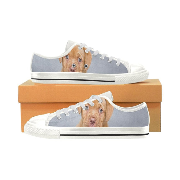 Lonely Face Puppy Low Top Womens Canvas Shoes