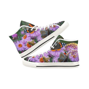 Women's Flower Shoes Butterfly Bee Canvas High Tops