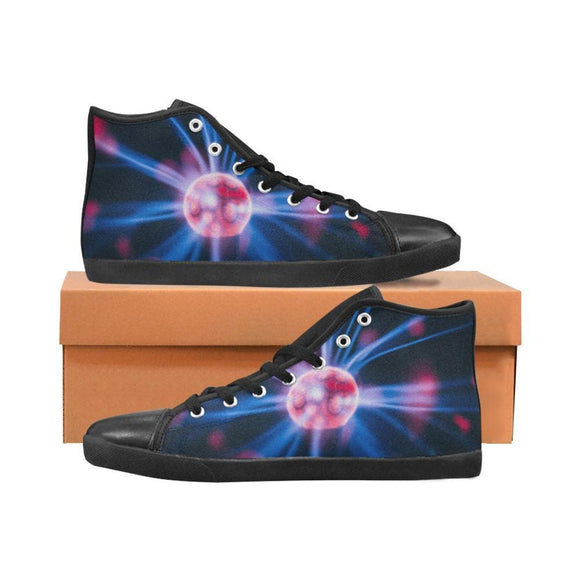 Plasma Explosion Graphic High Top Shoes