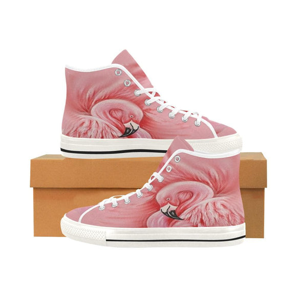 Pink Flamingo High Top Shoes