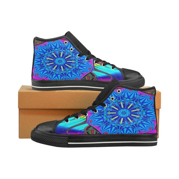 Blue Bright Mandala Canvas Womens Shoes