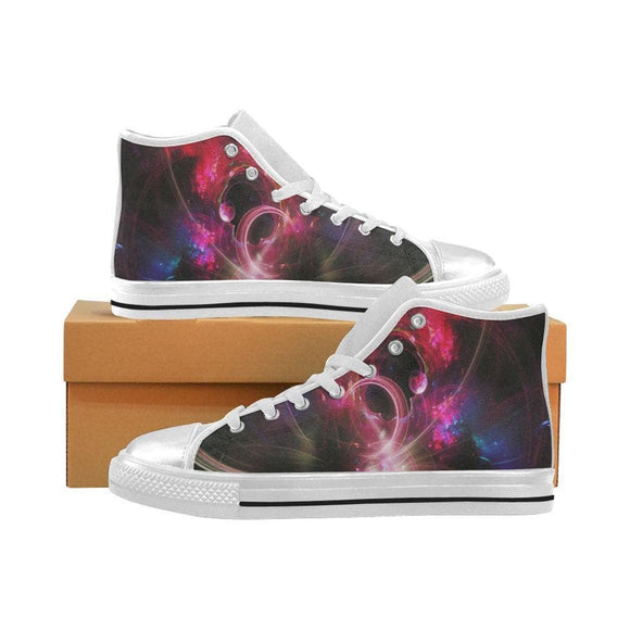 Universe Purple Womens High Top Canvas Shoes