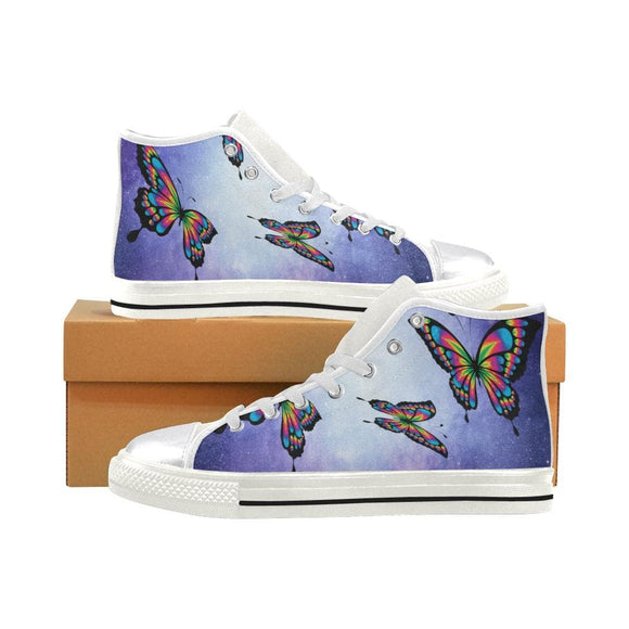 Butterfly High Top Shoes For Woman