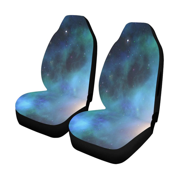 Blue Galaxy Car Seat Covers