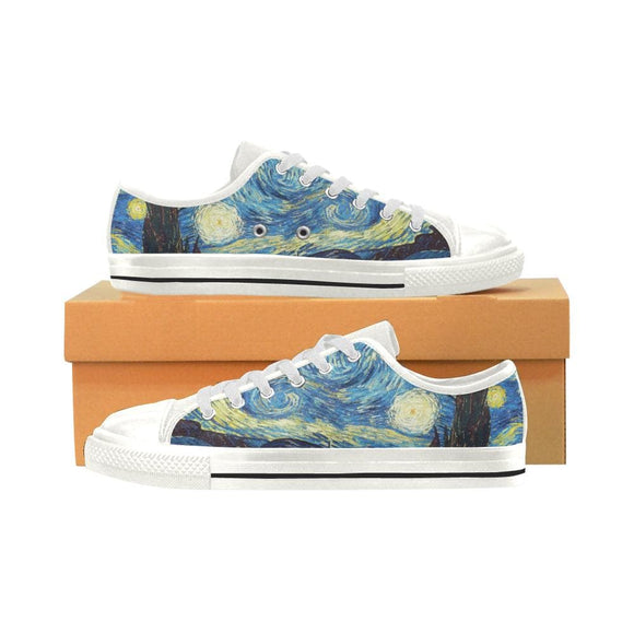 Vincent Van Gogh Low Top Shoes Aquila Canvas Women's Shoes