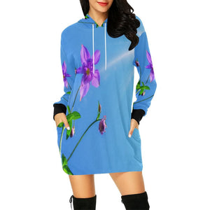 Columbine Flower Hoodie Dress