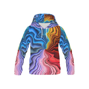 Holographic Color Swirl Hoodie