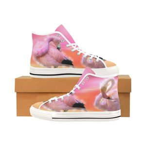 Shoes With Pink Flamingo Printed Graphic Womens