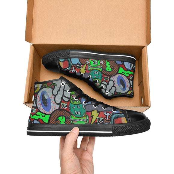 Crazy Eye Graphic Shoes For Men
