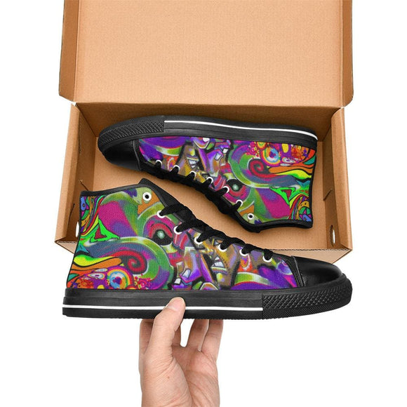 Urban Art High Top Shoes For Men