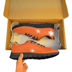 Bright Orange Sparkle Mens High Top Shoes