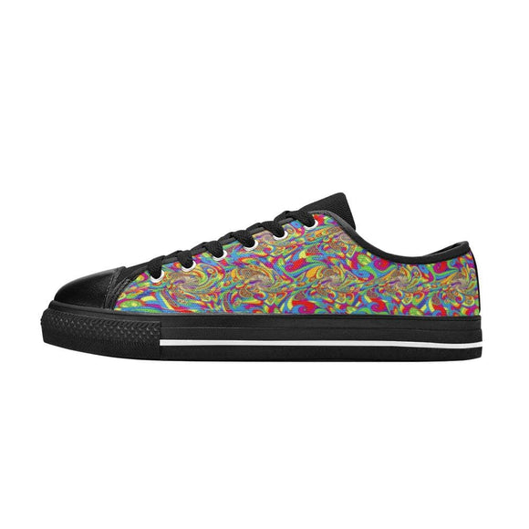 Multicolor Canvas Shoes For Men