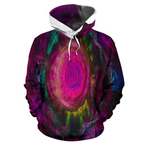 Mandala Color Light Hoodie Men Women Youths Colorful Pink Purple Green
