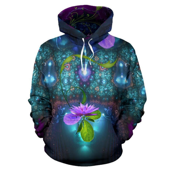 Pink Lily Flower Hoodie With Color