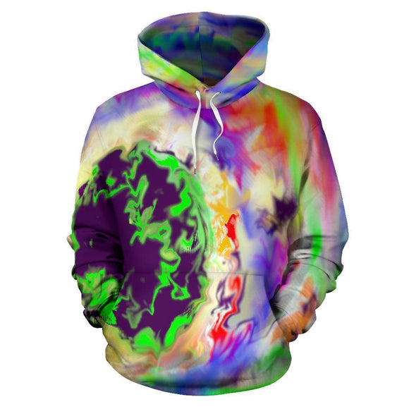 Tie Dye World Graphic Print Hoodie