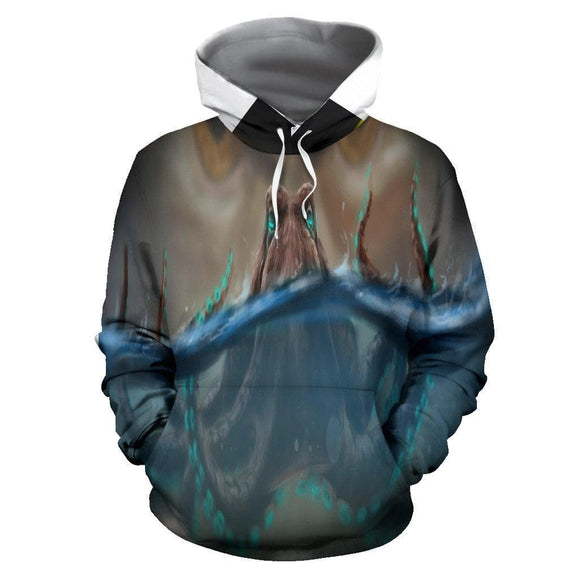 Sly Octopus Chilling  Hoodie