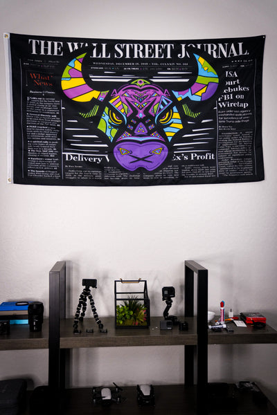 Wall Street Art Bull Flag