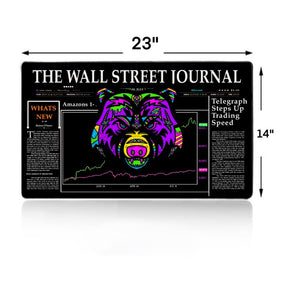 Wall Street Bear Extra Large Mouse Pad