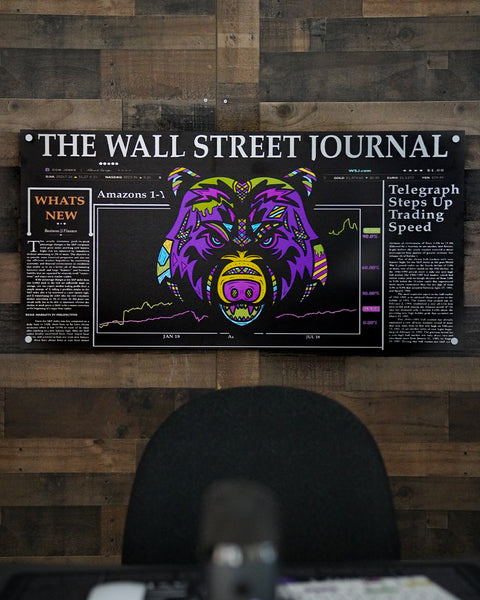 Wall Street Bear Premium Art