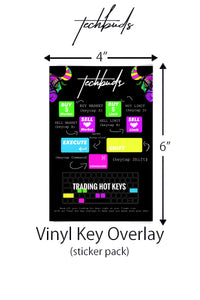 Day Trader Hot Key Vinyl Overlay