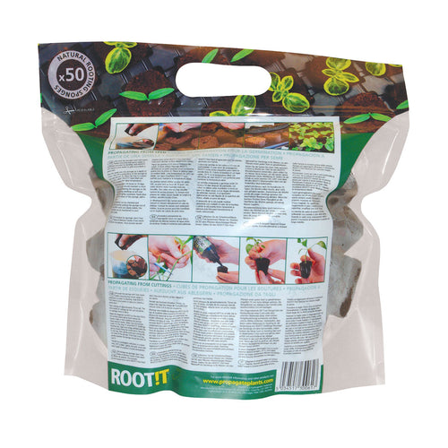 ROOT!T Natural Rooting Sponges 50 Refill Bag - National Hydroponics