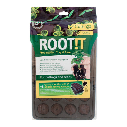 ROOT!T 24 Cell Filled Propagation Insert and Tray - National Hydroponics