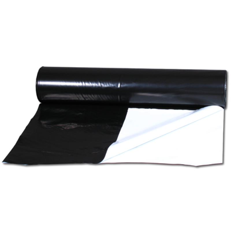 25m x 8m Commercial Roll of Black / White Grow Sheet 125mu - National Hydroponics