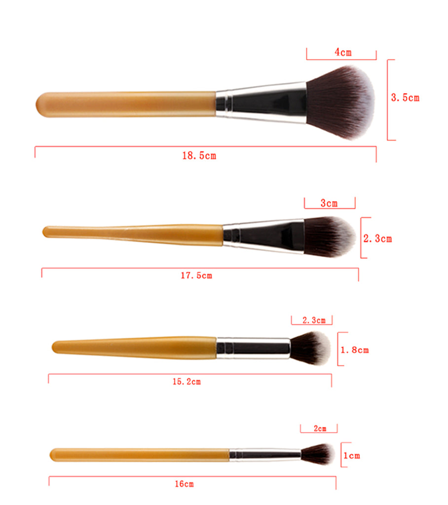 Set 9 pensule make-up Bamboo Professional