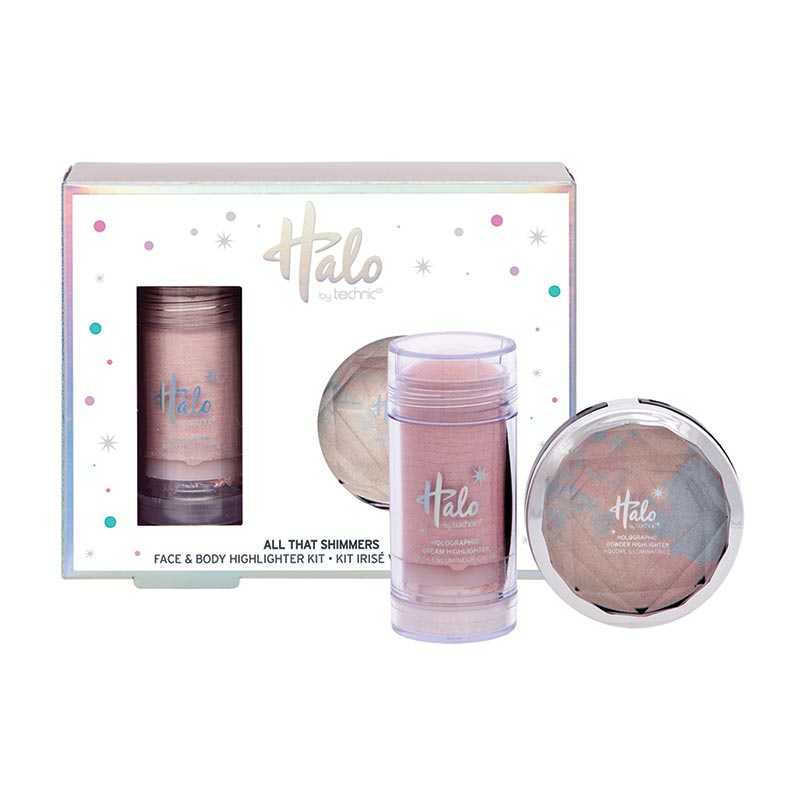 Kit iluminator fata si corp Technic Halo All That Shimmers Face & Body