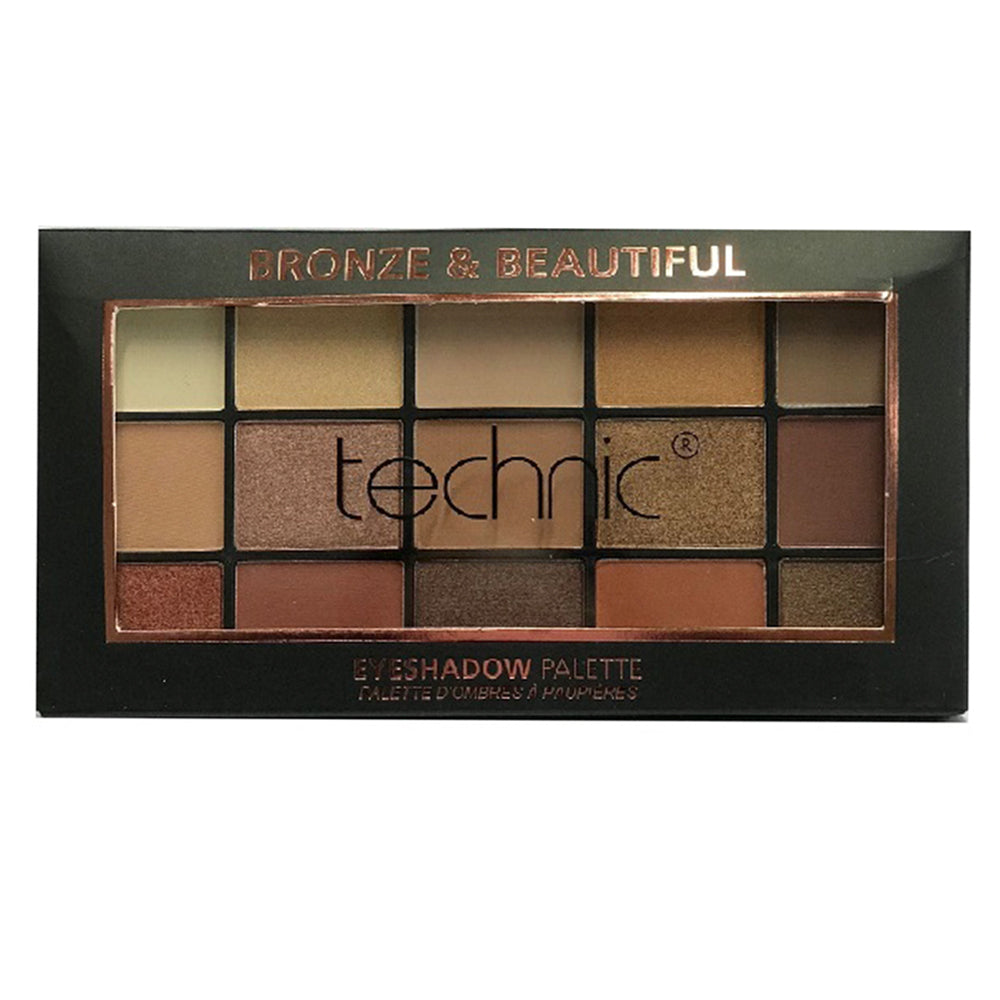 Paleta farduri de pleoape Technic 15 Eyeshadows Palette Bronze & Beautiful