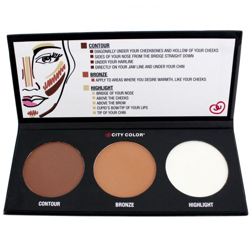 Paleta Contouring City Color Profesional