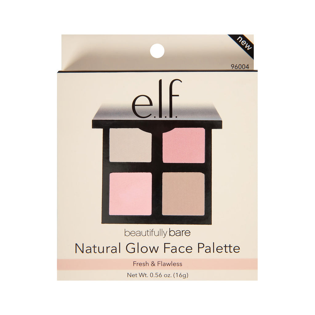 Paleta contouring E.L.F. Beautifully Bare Natural Glow Face Palette