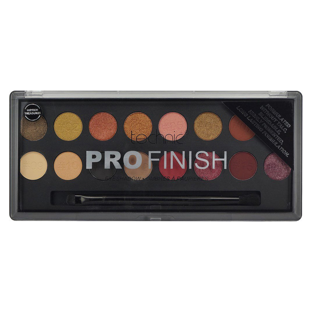 Paleta farduri de pleoape Tehnic Pro Finish Hidden Treasures Edition