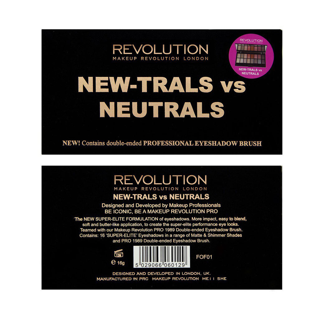 Paleta farduri Makeup Revolution New-Trals vs Neutrals